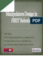 Manipulator Design