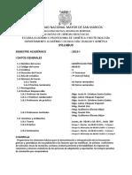 Syllabus Genética de Poblaciones 2015-1