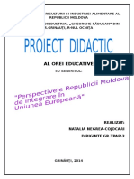 Proiect Didactic Integrarea Europeana