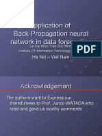 Application of Back-Propagation Neural Network in Data Forecast