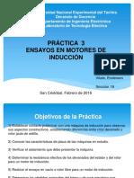 Práctica 3. Ensayos en Motores de Inducción
