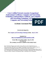 CTC NT AAS, Undergraduate Certificate, And CCNA OEC