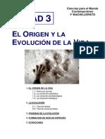 3. El Origen y La Evolución de La Vida CCMC 1º Bach BIL
