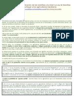 Argentina - NO a la privatización de las semillas y la vida La Ley de Semillas Monsanto- ahora lista para llegar a los agricultores familiares