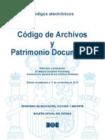 BOE-092 Código de Archivos y Patrimonio Documental