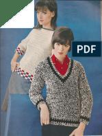 Crochet Pullover Checkerboard