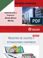 Registro de ajustes y estimaciones contables