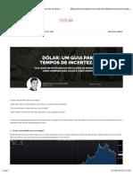 Dolar Incertezas Agosto 2016