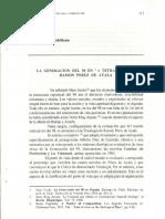 La generación del 98 en la tetralogía de Ramón Perez de Ayala