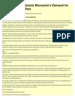 South America Resists Monsanto