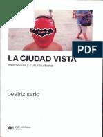 La Ciudad Vista Beatriz Sarlo