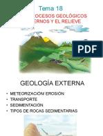 Los Procesos Geológicos Externos y El Relieve