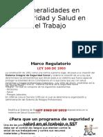 Generalidades en Seguridad y Salud en El Trabajo
