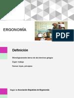 Presentación - Ergonomía