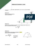 Examen de Teoremas de Pitc3a1goras y Tales