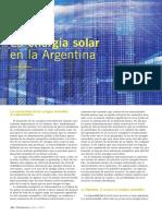 La Energía Solar en La Argentina