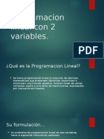 Programacion Lineal Con 2 Variables