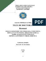 Exilul Romanesc Teza Oradea