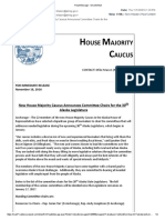 Alaska House Majority Caucus press release
