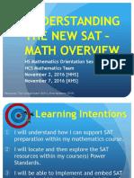 Understanding the New SAT-HS Math Overview 1116