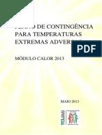 Plano Onda de Calor – Actuação Do Ministério Da Saúde
