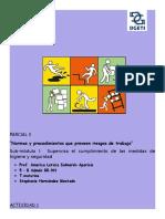 Normas y Procedimientos Que Preveen Riesgos de Trabajo