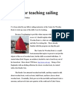 Drills for Teaching Sailing