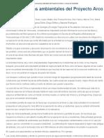 Consecuencias Ambientales Del Proyecto Arco Minero – Desarrollo Sustentable