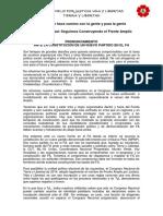 PRONUNCIAMIENTO ANTE LA CONSTITUCIÓN DE UN NUEVO MOVIMIENTO EN EL FA