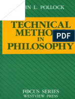 John L. Pollock-Technical Methods in Philosophy (Focus Series) (1990)