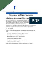 Cancer de La Piel Melanoma