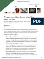 7 Frases Que Debes Decir..