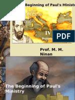 Beginning of Paul's Ministry