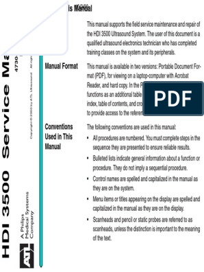 HDI-3500 MANUAL SERVICE | Portable Document Format | Electronics