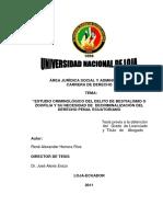 Desarrollo de La Tesis de René Herrera Ríos 2011