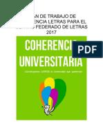 """Plan de Trabajo """"COHERENCIA LETRAS"""""""