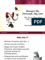 Beware the Firewall