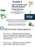Big Idea 11 - SC.4.P.11.1-11.2 - Energy Transfer and Transformation - Heat