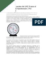 JNC 8 Para El Manejo de La Hipertensión