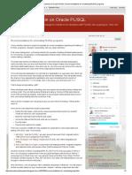 Recomendaciones para Testing de aplicación diseñadas en PLSQL