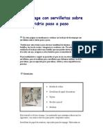 Decoupage Con Servilletas Sobre Vidrio Paso a Paso