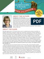 Teacher Guides for books by Barbara OConnor
