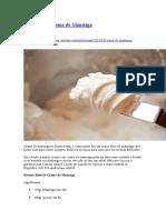 Como Fazer Creme de Manteiga