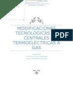 Modificaciones Tecnologicas de Centrales Termoelectricas a Gas