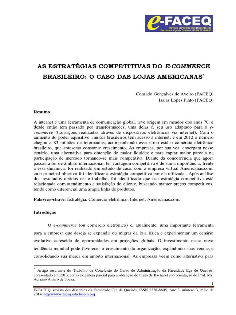 d26dc8b11 As Estrategias Competitivas Do e Commerce Brasileiro