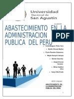 Abastecimiento en La Administracion Publica Del Peru