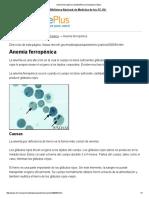 Anemia Ferropénica_ MedlinePlus Enciclopedia Médica