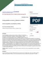 Desigualdades Sociales y Diabetes Mellitus