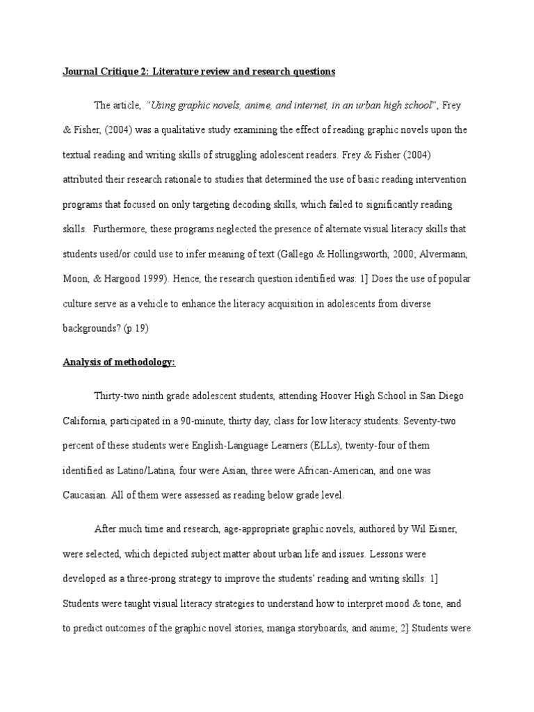 jac harris assignment 7 article 2 summary | Literacy