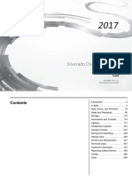 2017 Chevrolet Silverado Pickup Truck Owners Manual